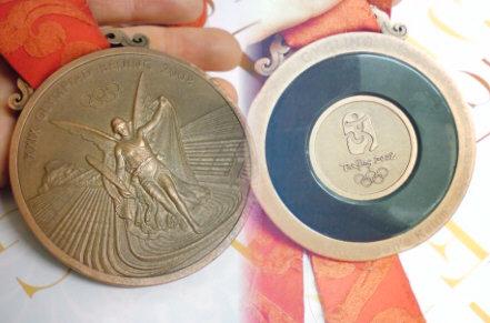 本物の銅メダル!