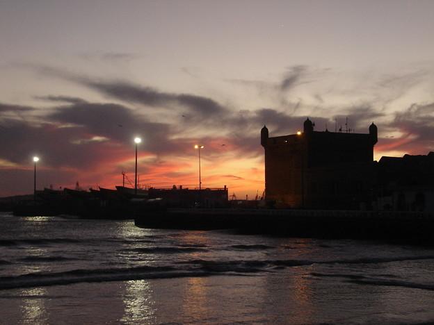 Photos: モロッコ、エッサウィラの夕焼け