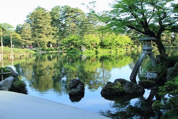新緑の兼六園  霞ヶ池