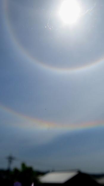 二重のハロ(日暈)と環天頂アーク