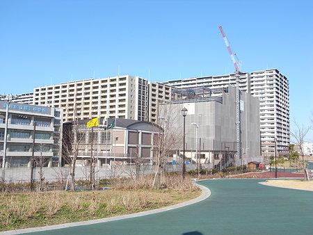 BELISTA都立汐入公園と新設小学校の建設(2009/1)