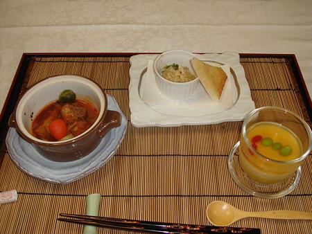 雲仙宮崎旅館の夕食(3)