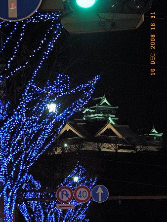 クリスマスの熊本城