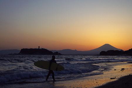 七里ヶ浜の夕景